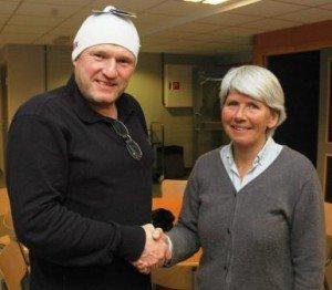 I SPISSEN: Nystiftede Søndre Land IL ski ledes av Lars Bjørnsveen med Elin Dunker som kasserer.