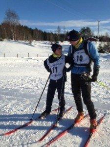 FIN TUR: Sigurd og Per Chr. Aasarmoen hadde en fin tur sammen under søndagens Landåsløp.